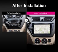 2011-2015 KIA K2 RIO car radio after installation